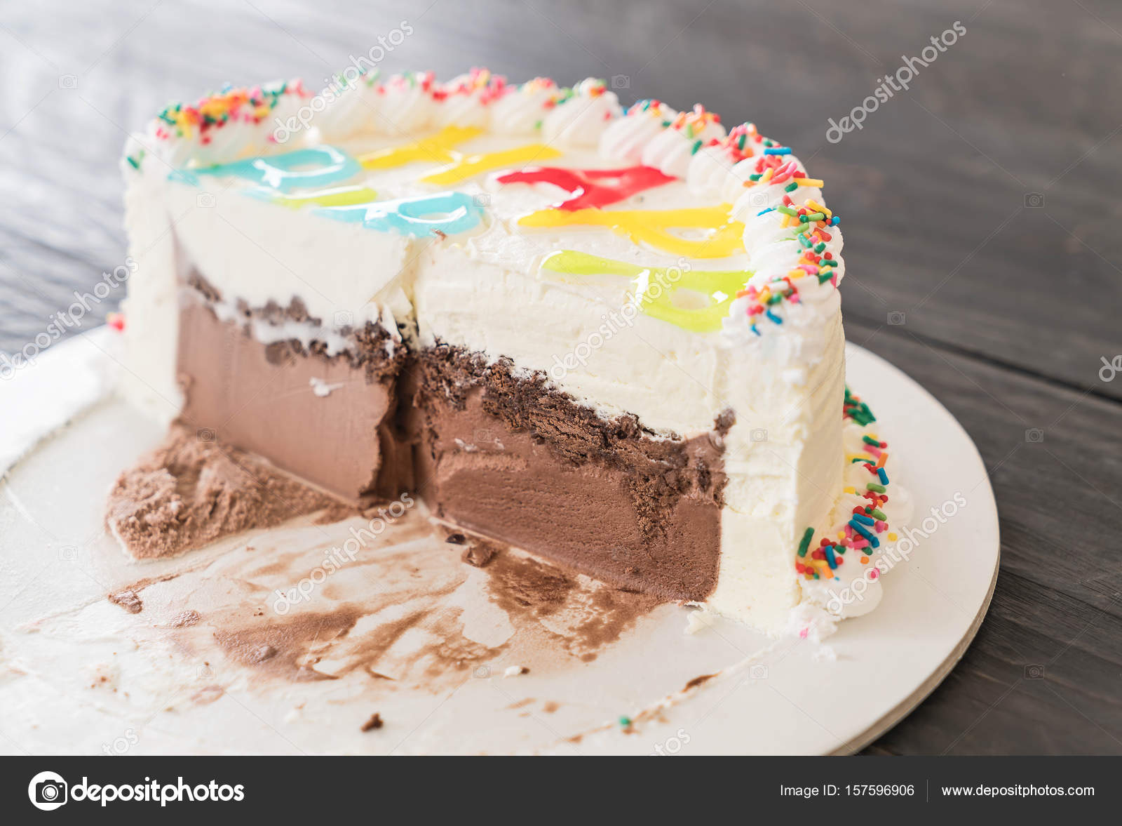 Happy Birthday Ice Cream Cake Stock Photo Topntp 157596906