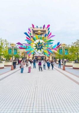 OSAKA, JAPAN - NOV 21 2016 : Main Entrance with 15 Years Anniver