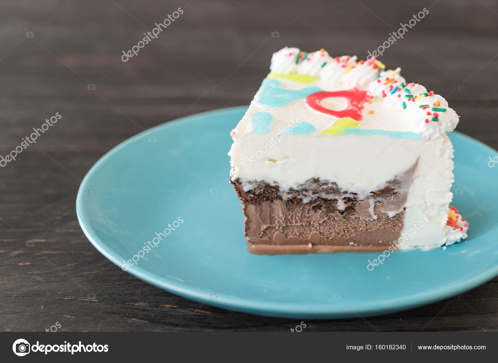 Happy Birthday Ice Cream Cake Stock Photo Topntp 160182340