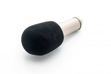 Beautiful microphone on white