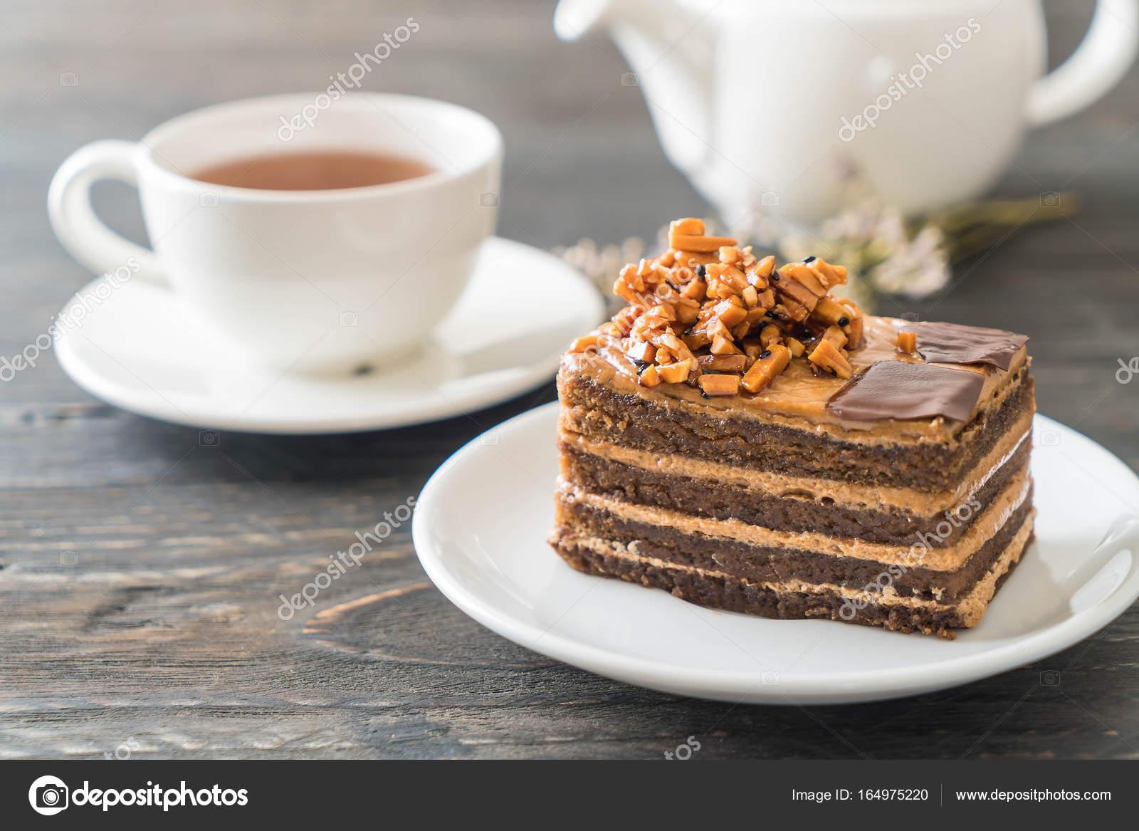Toffee Kaffee Kuchen Stockfoto C Topntp 164975220