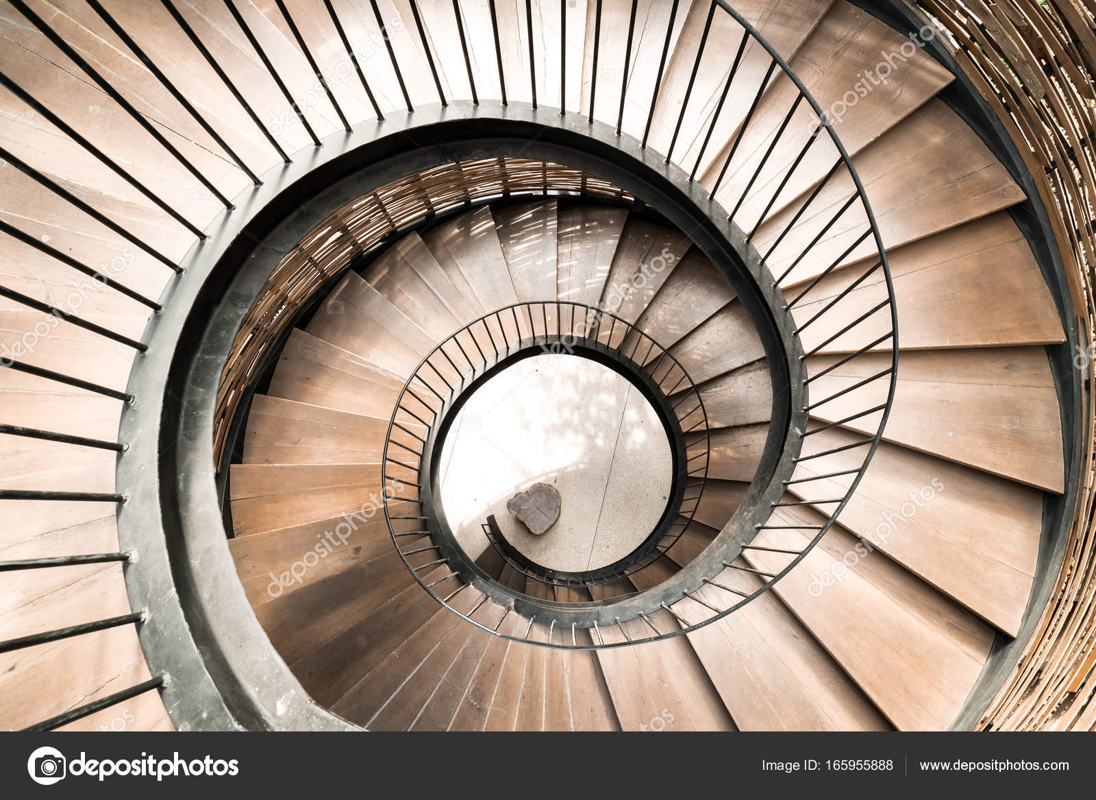 Superbe Spiral Circle Staircase Decoration Interior U2014 Stock Photo