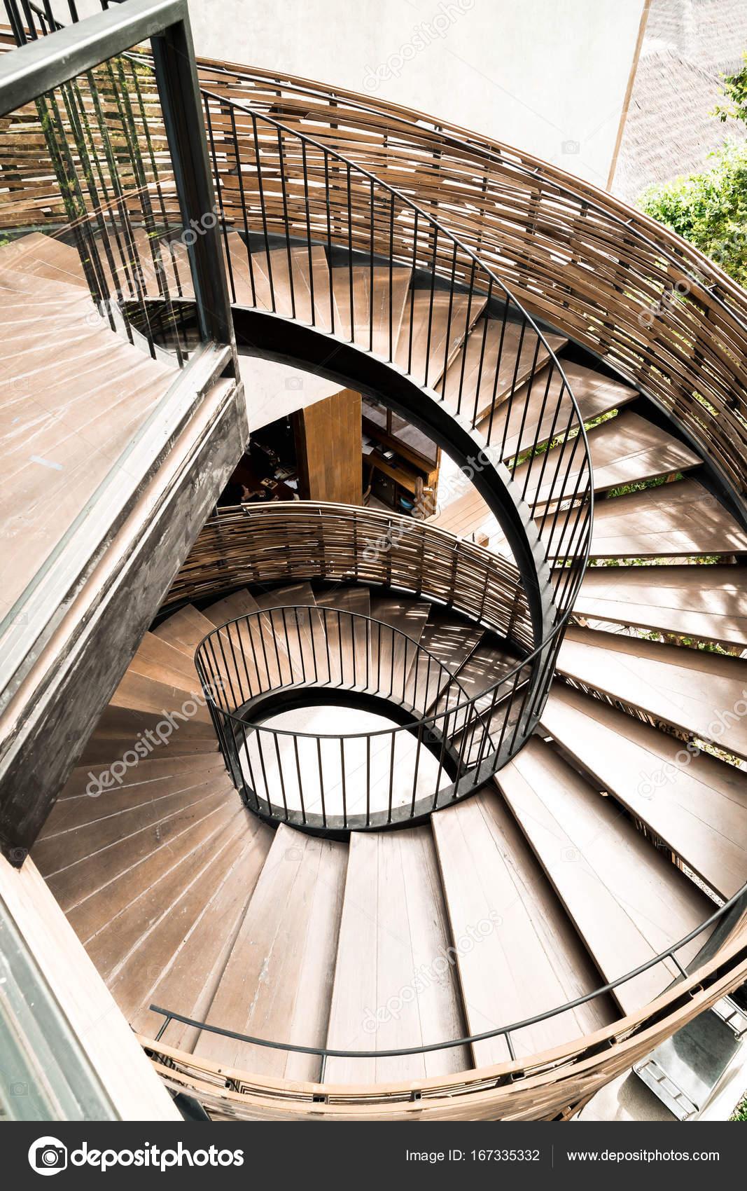Spiral Circle Staircase Decoration Interior U2014 Stock Photo