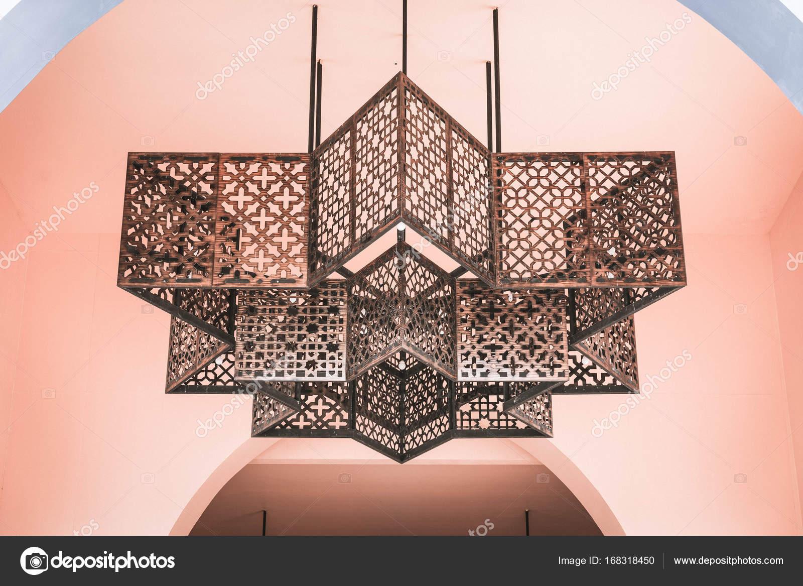 Lamp decoratie in marokko stijl u stockfoto topntp
