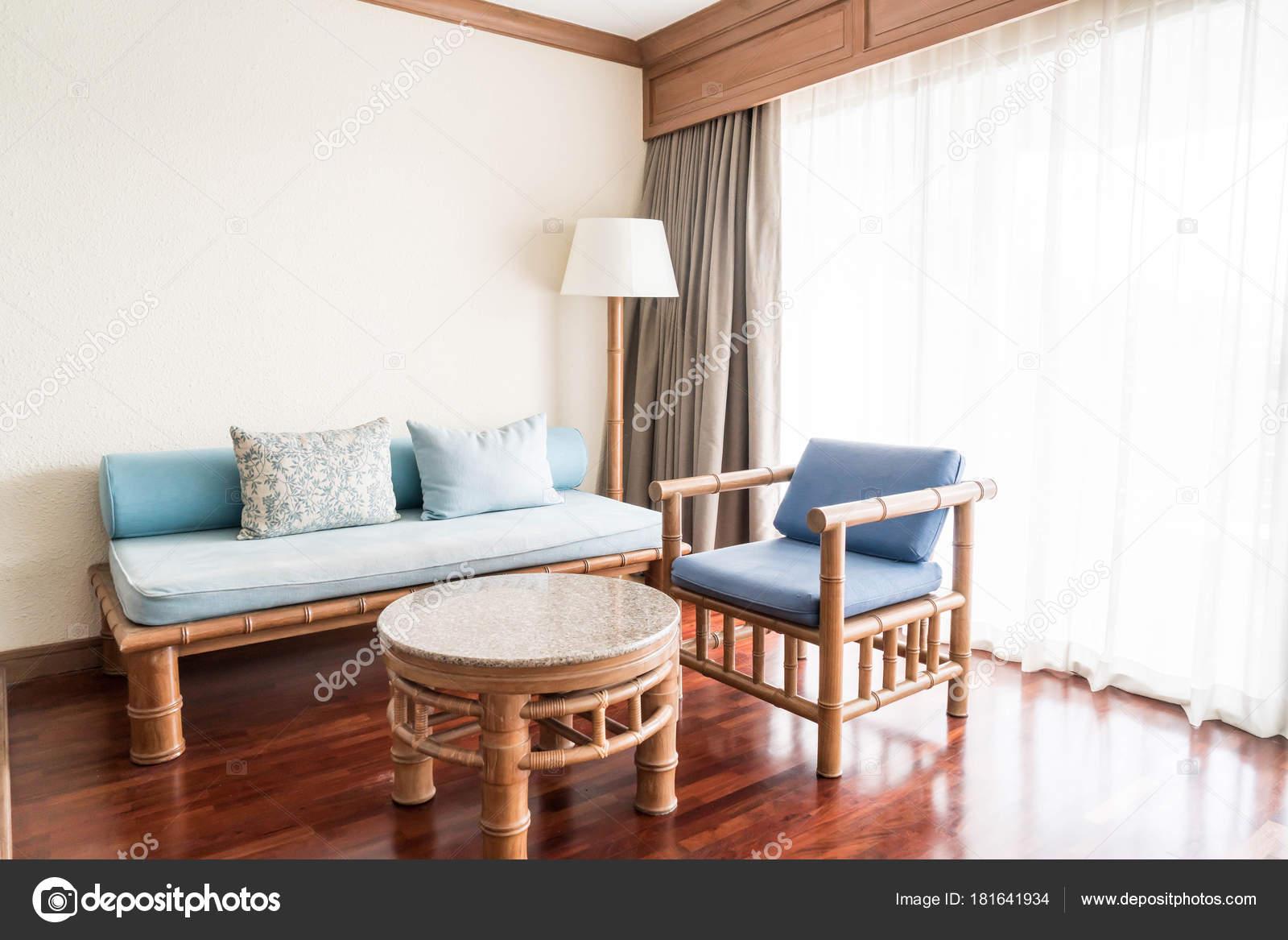 empty sofa in living room interior — Stock Photo © topntp #181641934