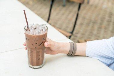 iced chocolate glass