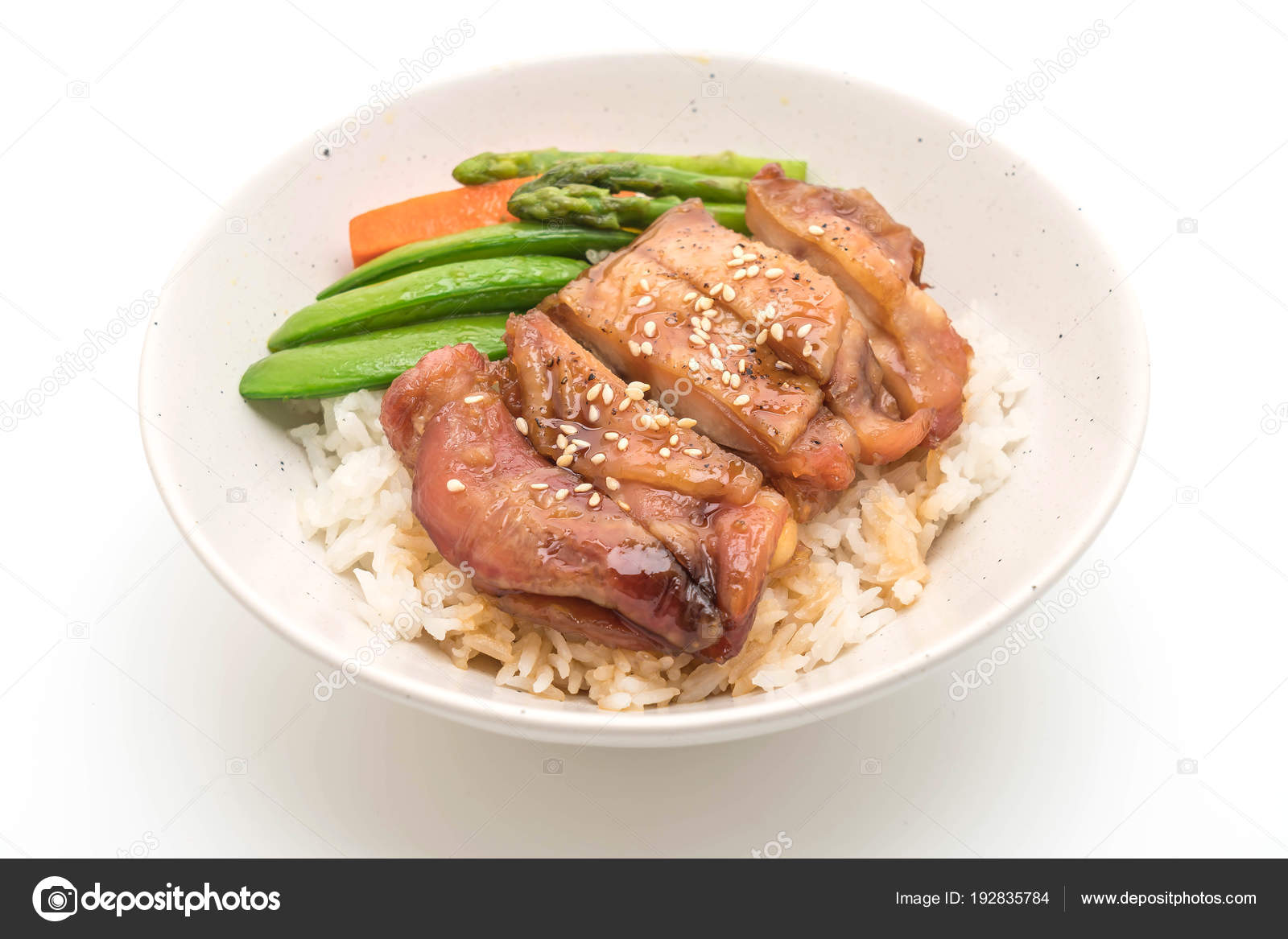 Teriyaki Chicken Rice Bowl Stock Photo C Topntp 192835784