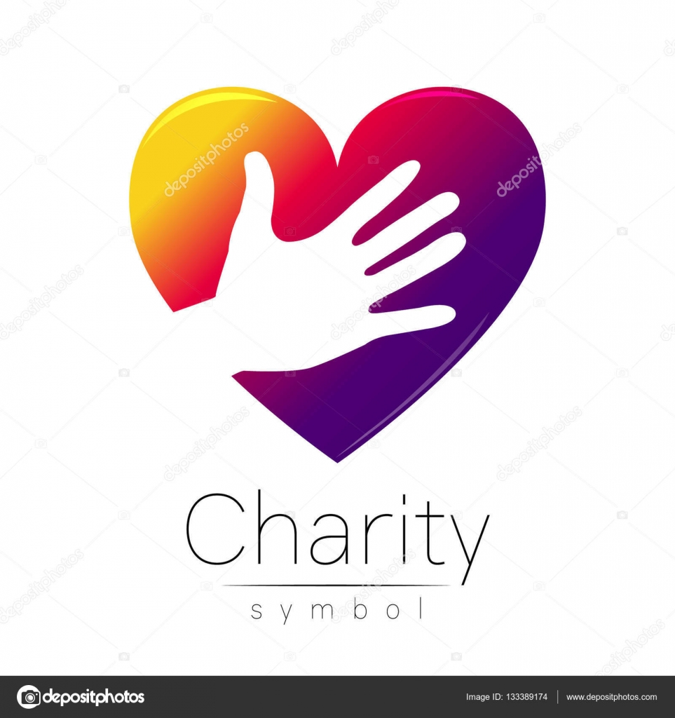 Vector illustration symbol of charity sign hand heart isolated symbol of charity sign hand heart isolated on white backgroundolet biocorpaavc