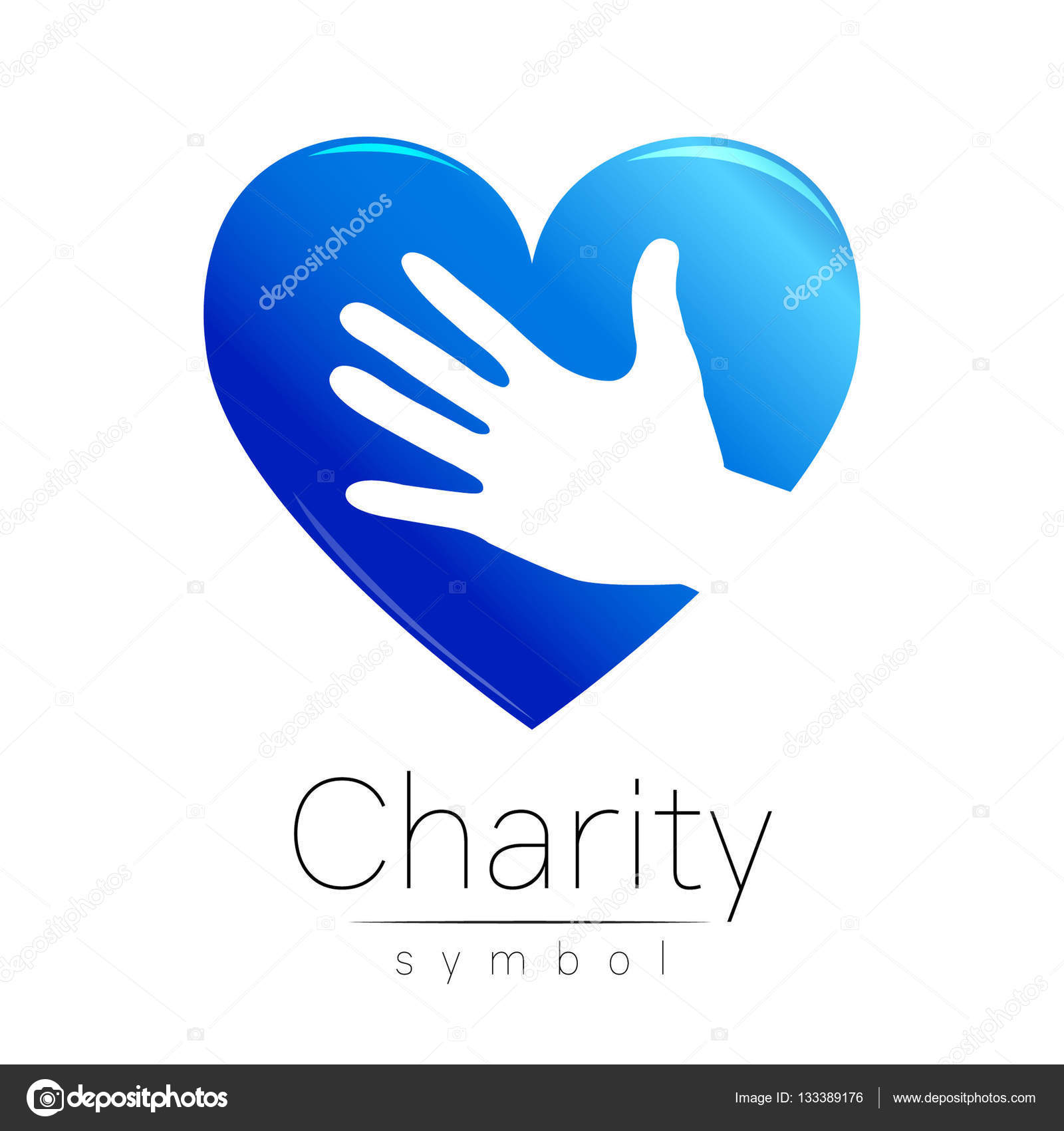 Vector illustration symbol of charity sign hand heart isolated symbol of charity sign hand heart isolated on white background biocorpaavc