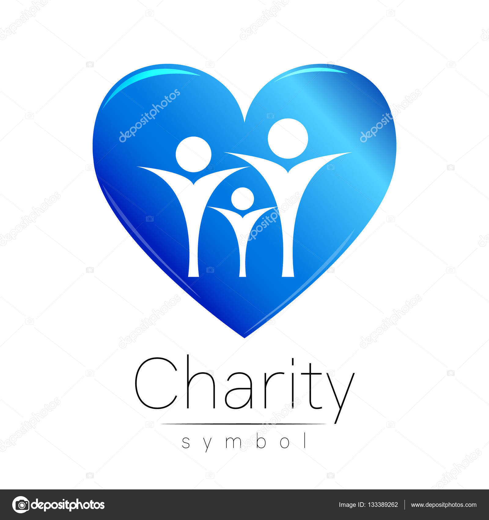 Vector illustration symbol of charitygn people heart isolated symbol of charitygn people heart isolated on white background biocorpaavc