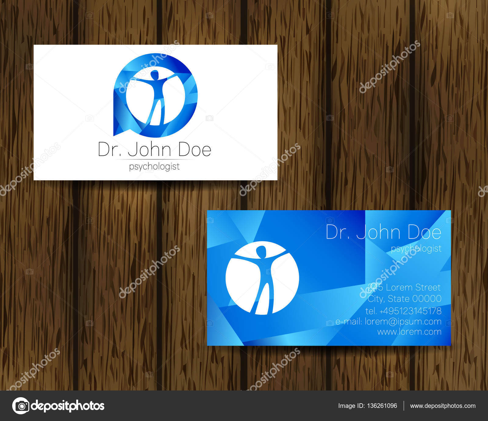 Psychologie Vektor Visitenkarte Modernes Logo Kreativmodus