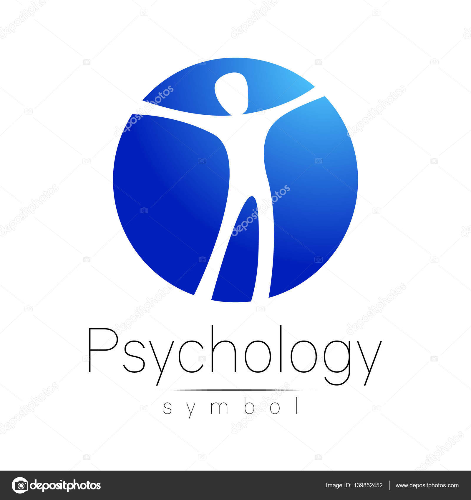 Modern man logo sign of psychology human in a circle creative human in a circle creative style icon in vector design concept brand company blue color isolated on white background symbol for web print card biocorpaavc Images