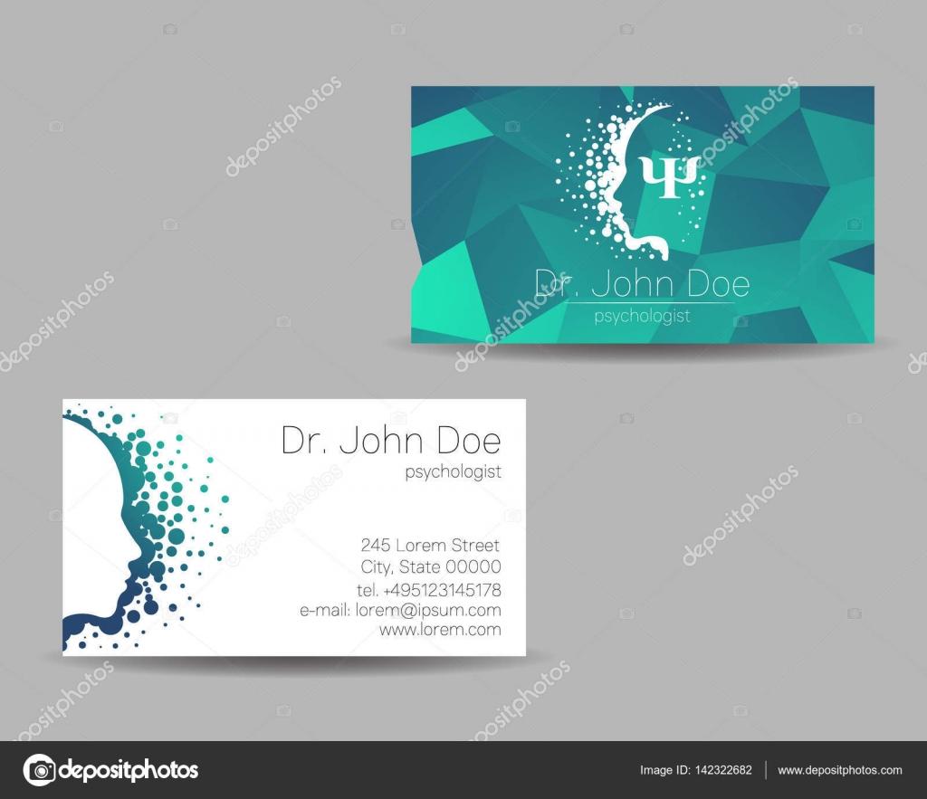 Psychology vector visit card. Modern Sign. Creative style. Design ...