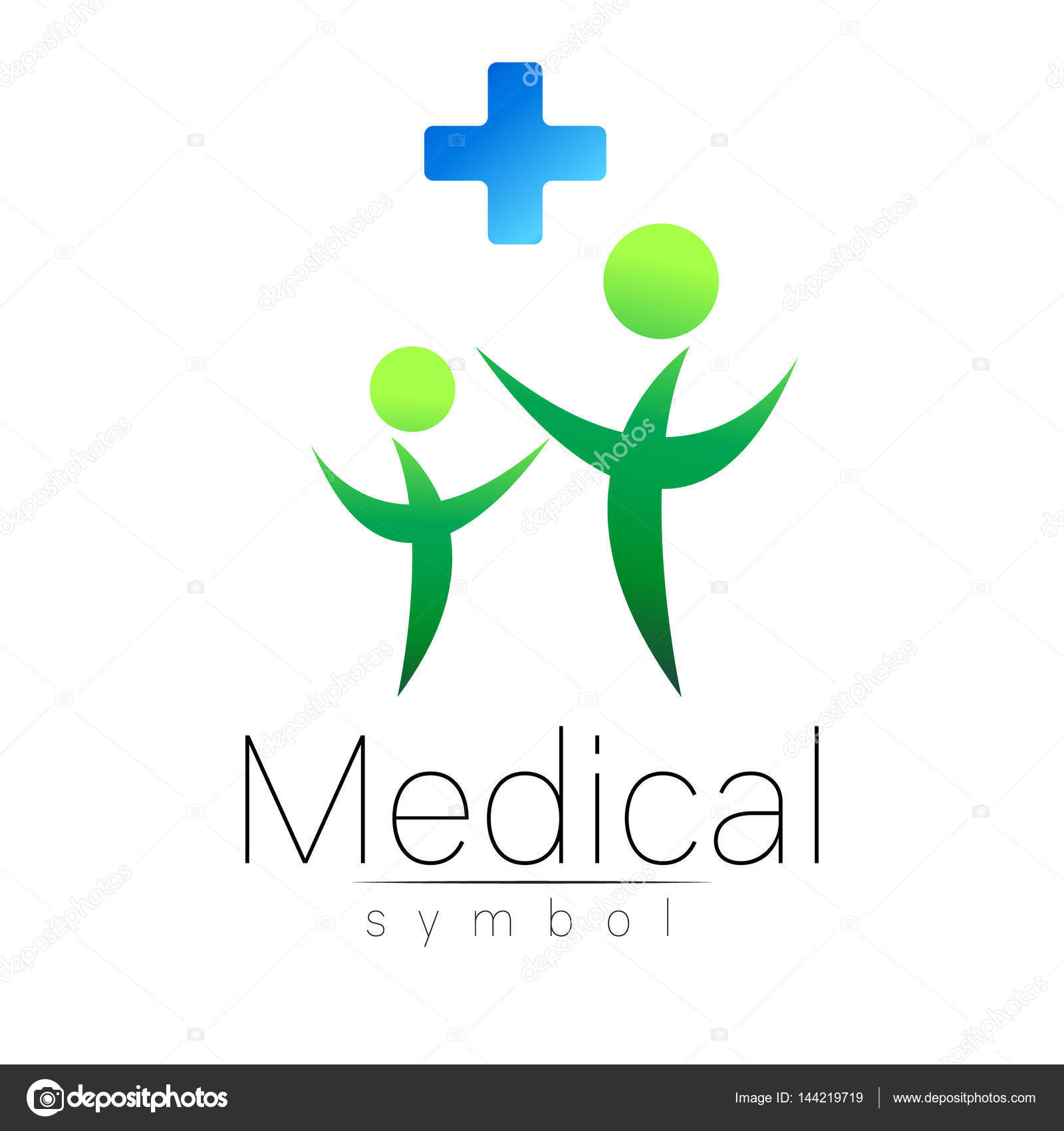 Symbole Pour Les Mdecins Site Internet Carte De Visite Icne Couleur Vert Bleu Conception Moderne La Mdecine Sant Et Soins Vecteur Par Vitmann