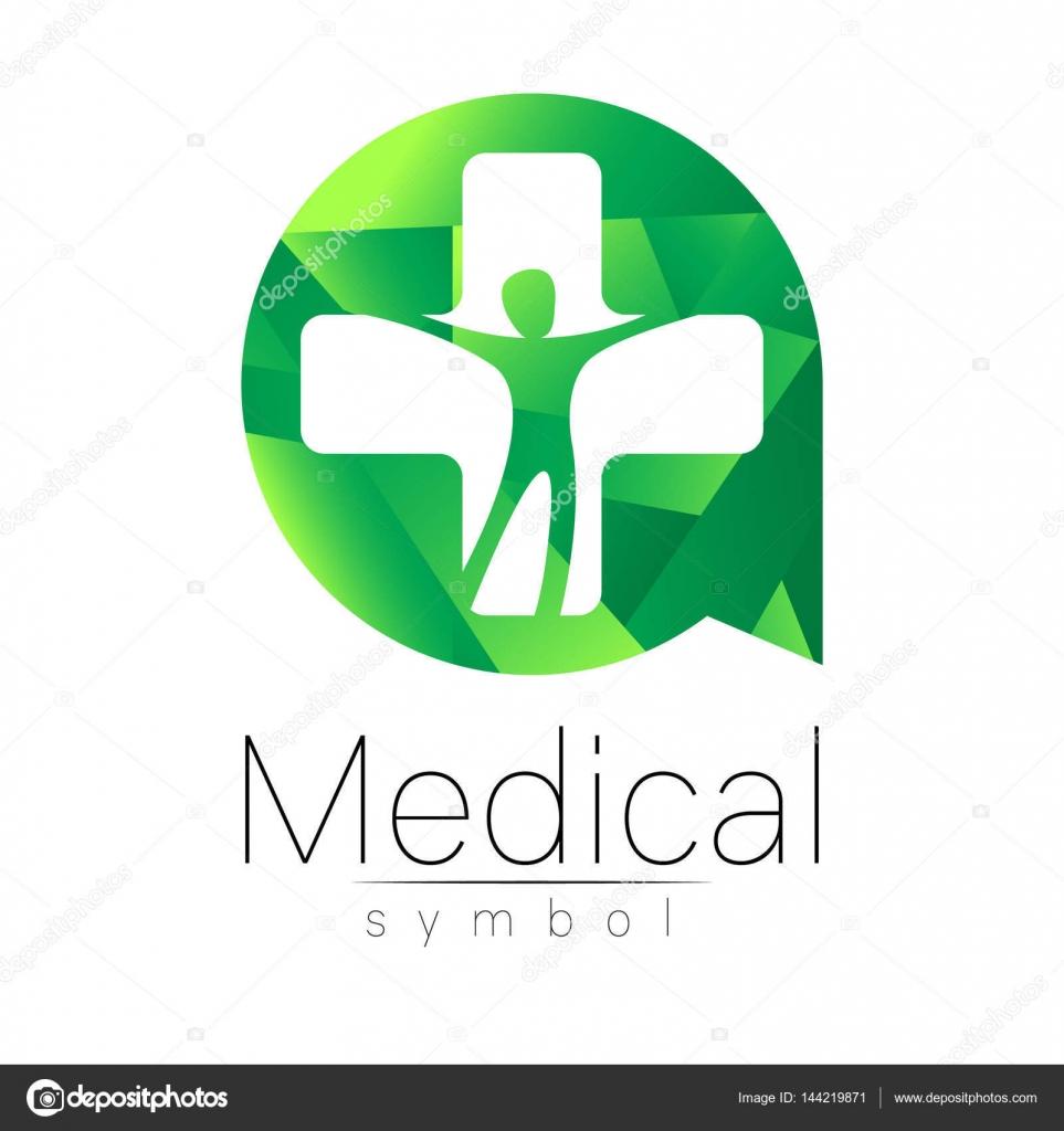 Symbole Pour Les Mdecins Site Internet Carte De Visite Icne Couleur Verte Conception Moderne La Mdecine