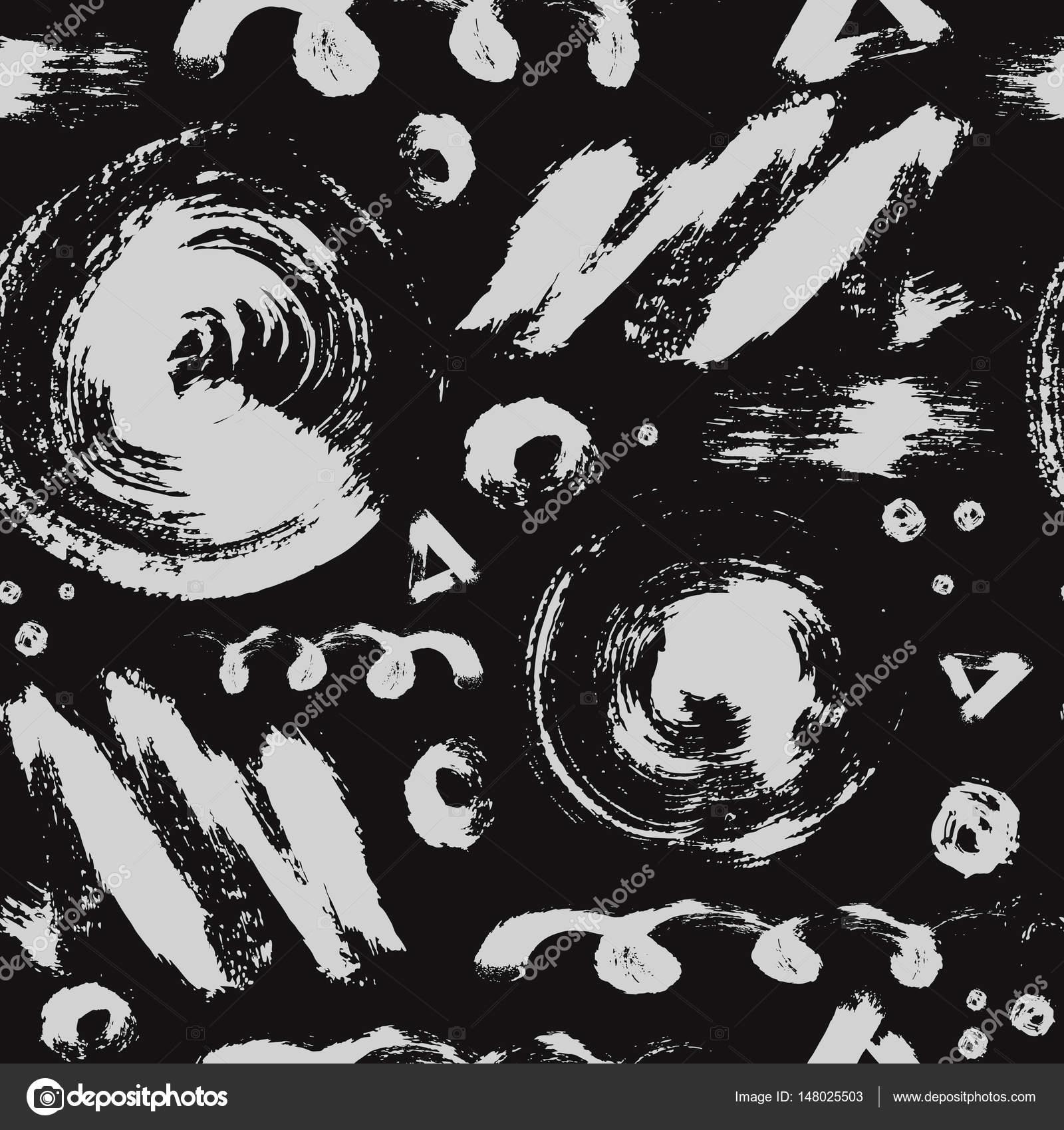 Vektorové bezešvé pattern s štětec tečky 9dcfee2081e