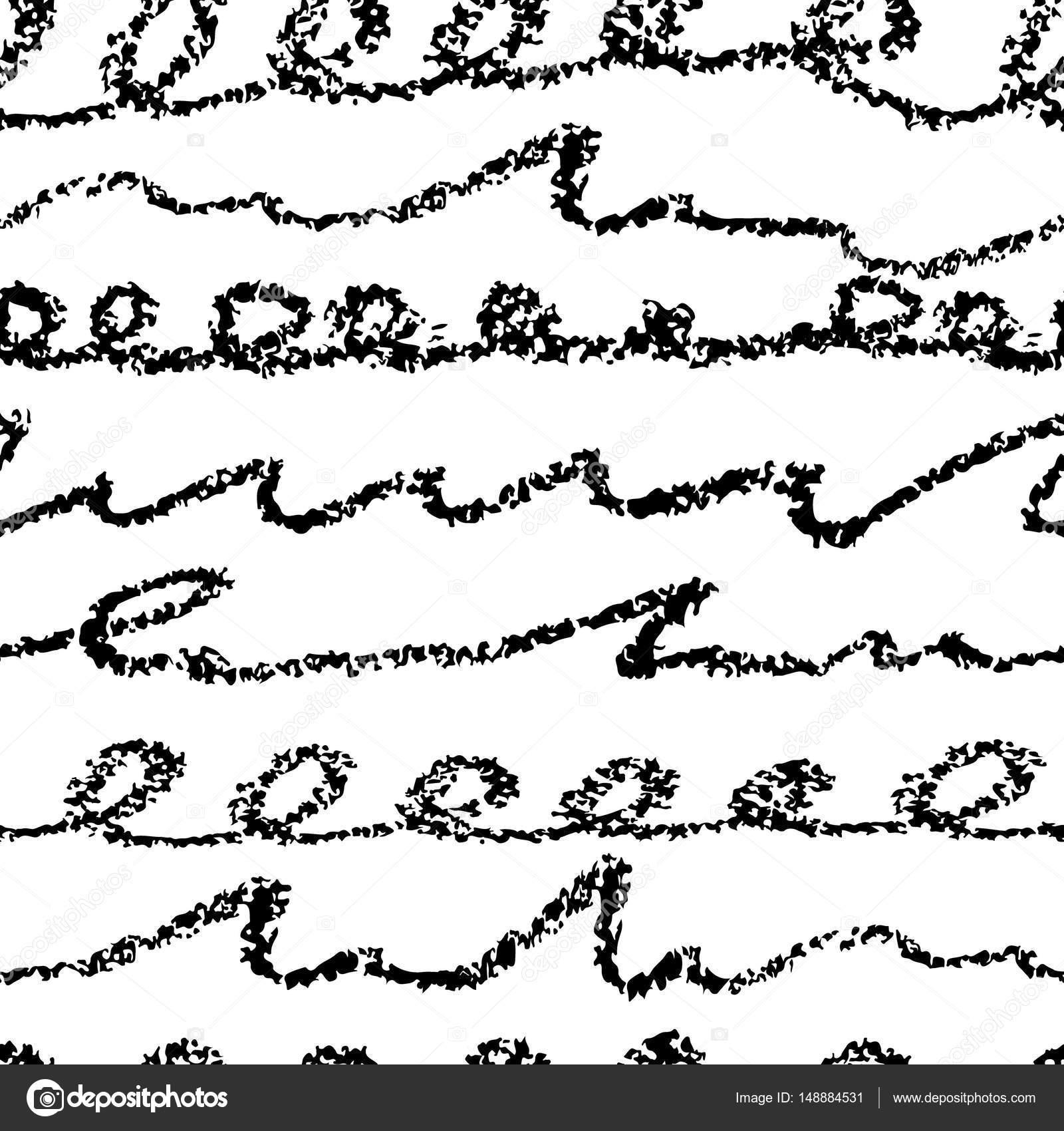 mod u00e8le sans couture de vecteur avec brosse  u00e9crit lettre