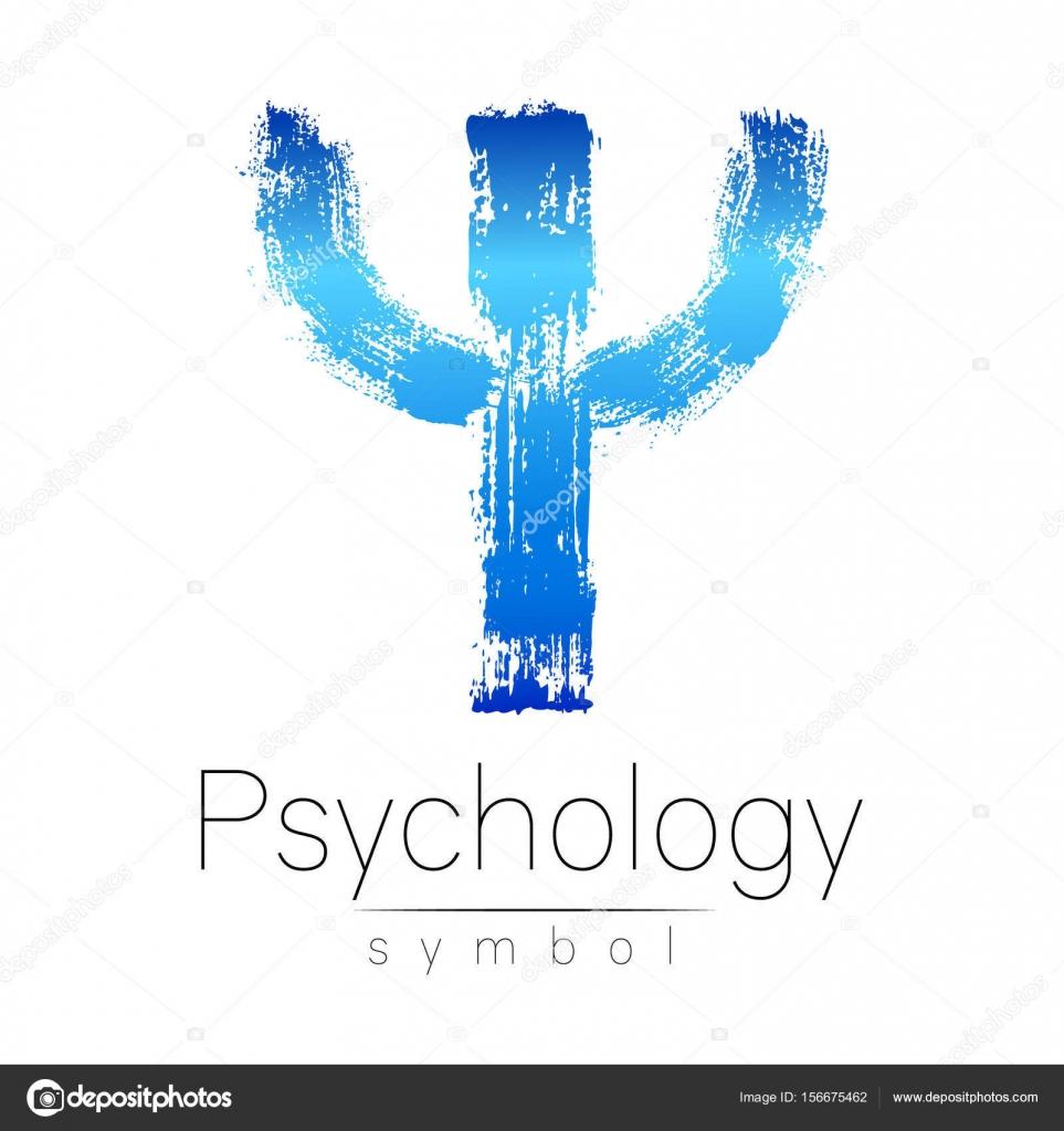 Genial Modernes Logo Der Psychologie. PSI. Kreativmodus. Logo In Vektor. Design  Konzept. Markenfirma. Blaue Farbe Buchstaben Auf Weißem Hintergrund.