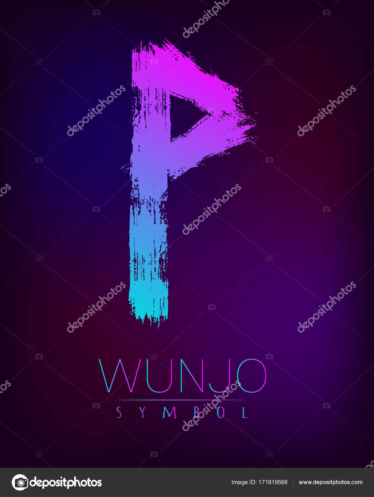 Scandinavia is a wunjo riches vector illustration symbol of futhark rune scandinavia is a wunjo riches vector illustration symbol of futhark letters brush stripes with trend gradient buycottarizona Choice Image