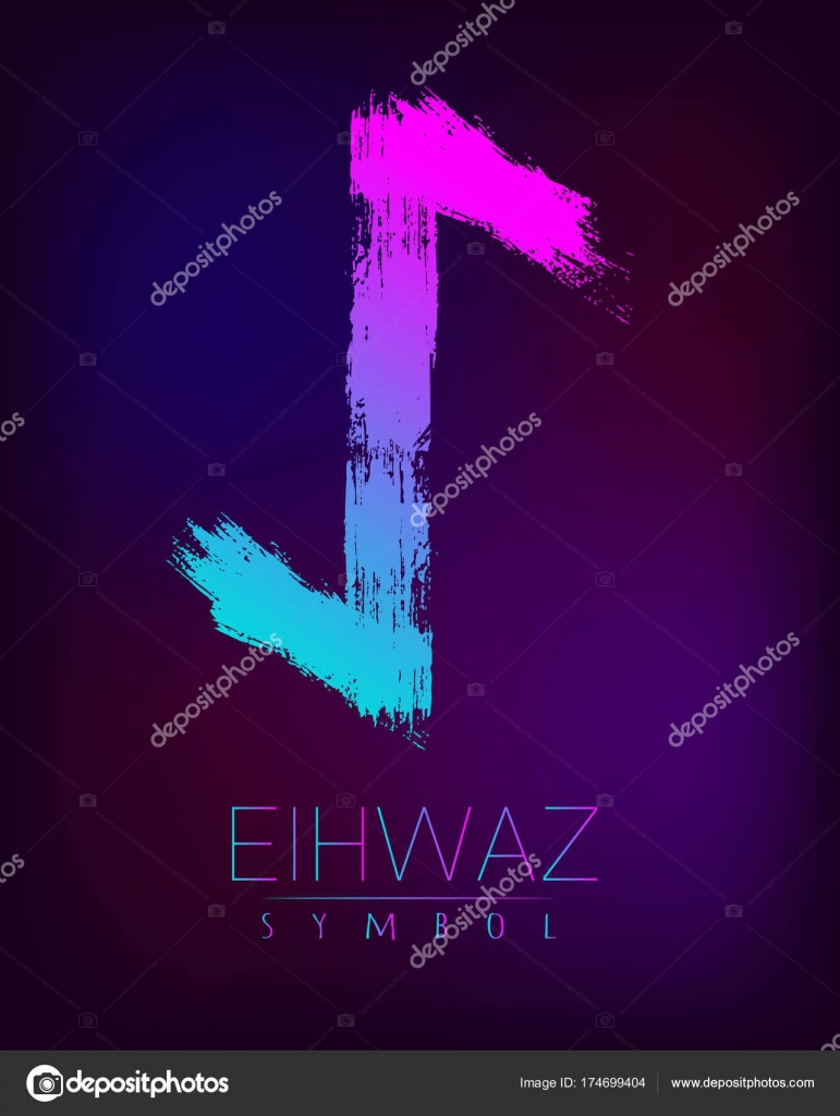 Scandinavia is a eihwaz riches vector illustration symbol of rune scandinavia is a eihwaz riches vector illustration symbol of futhark letters brush stripes with trend gradient buycottarizona Choice Image