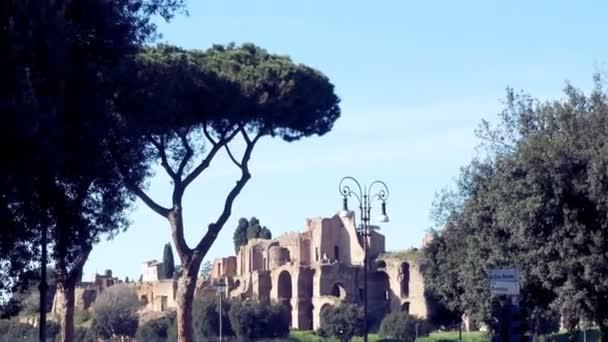 Piazza Venezia, vista Cesares forum, Roma