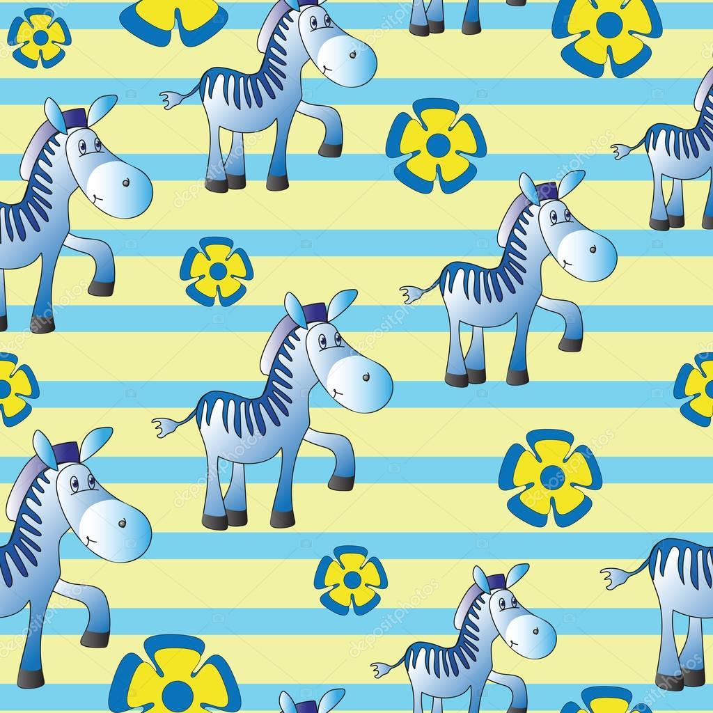 Funny Zebra. Zoo.