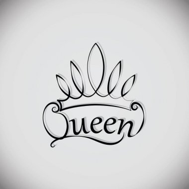Queen and the crown. Emblem