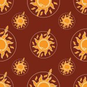 Slunce, had a kopí v kruhu