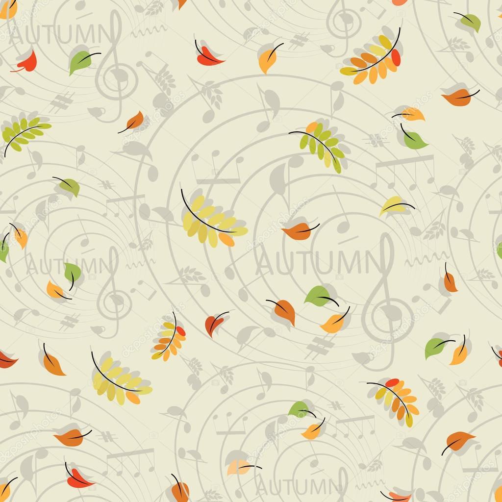Leaf fall. Music of autumn.