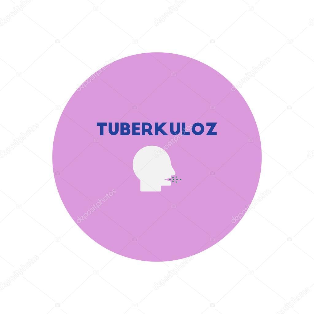 Vector Pictogram Op Cirkel Verschillende Symptomen Van Tuberculose