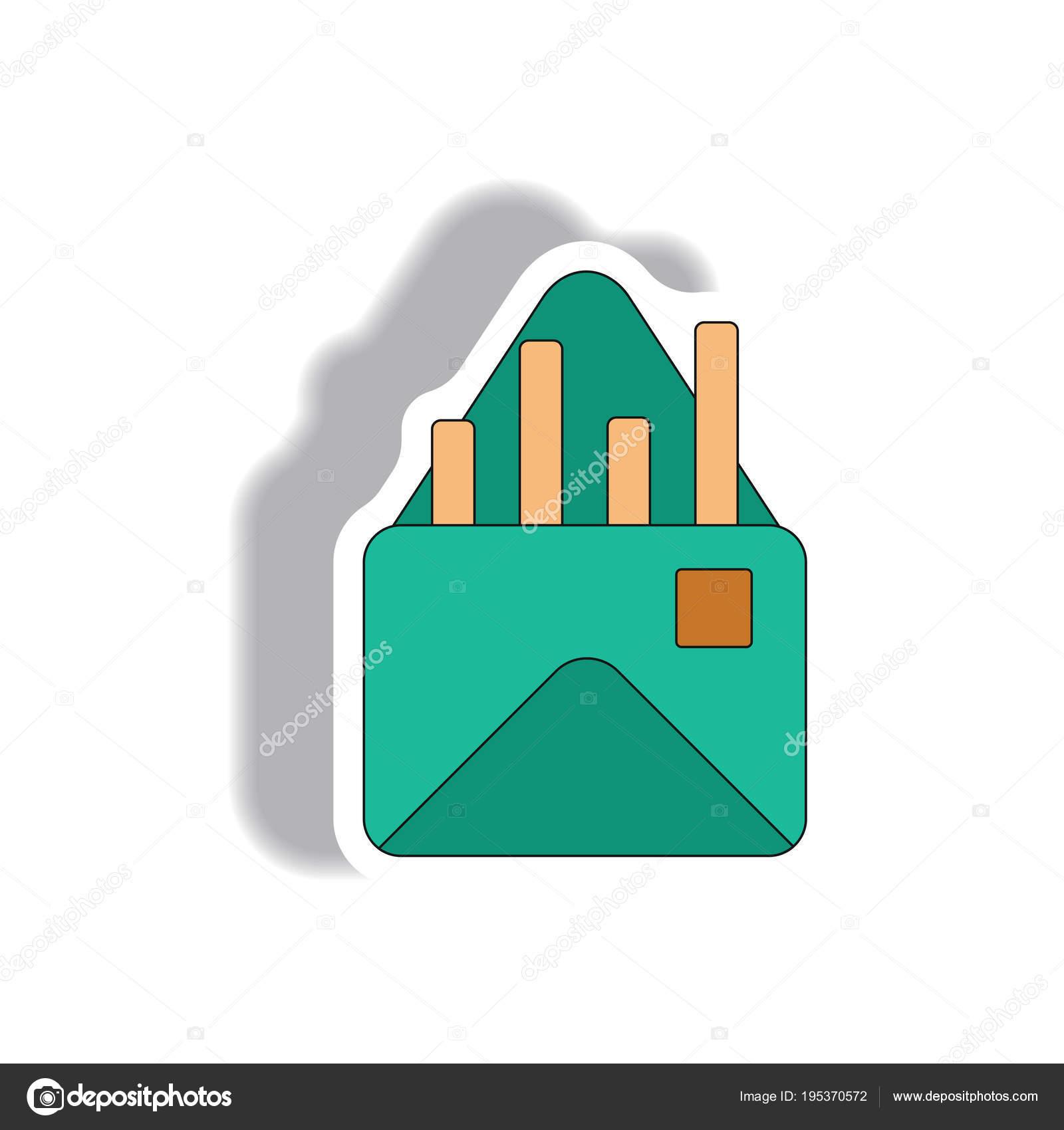 Barra Gráfica Ilustración Vector Estilo Etiqueta Papel Gráfico ...