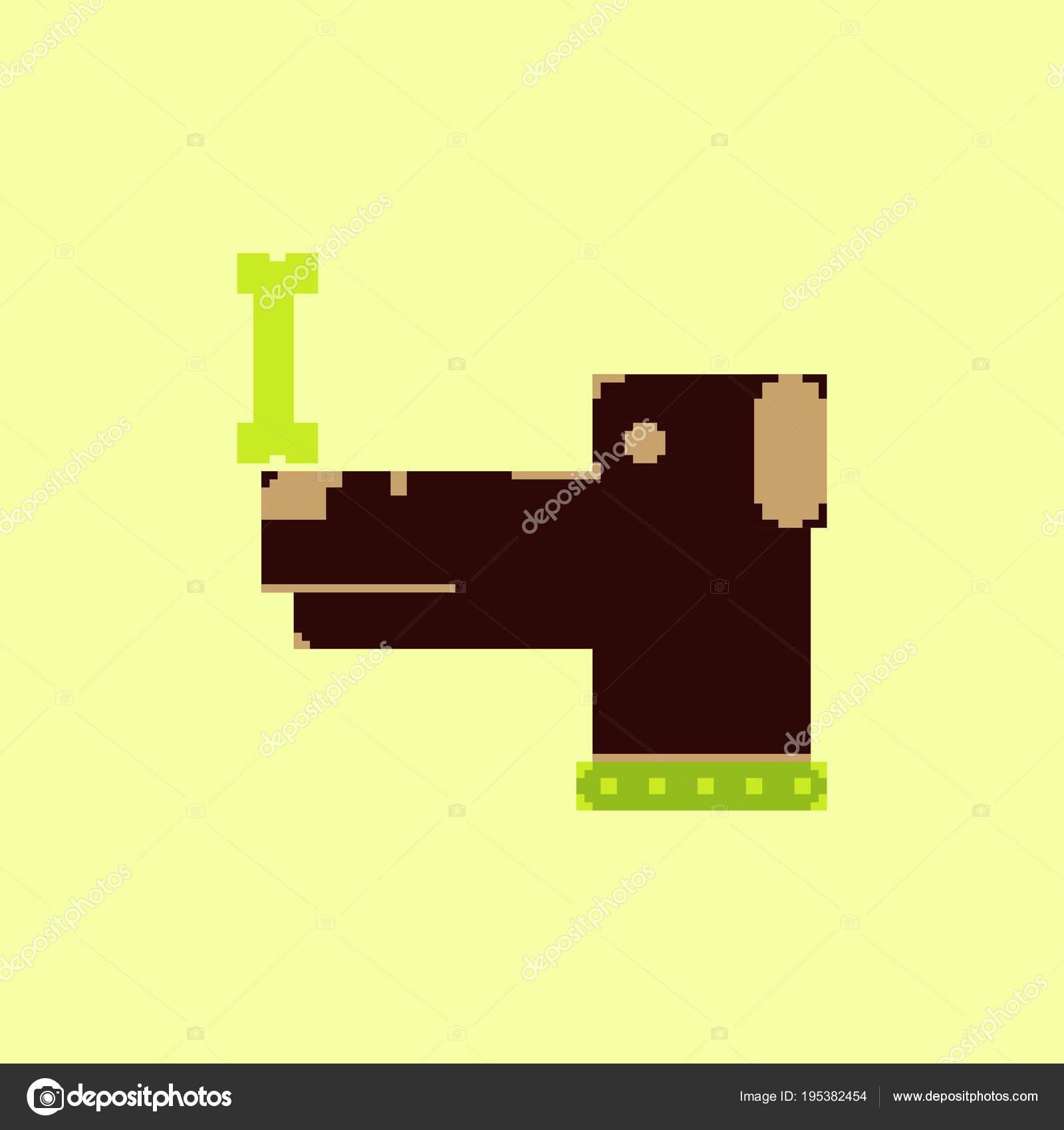 Vector Pixel Art Dog Bone Stock Vector Pashutanast9