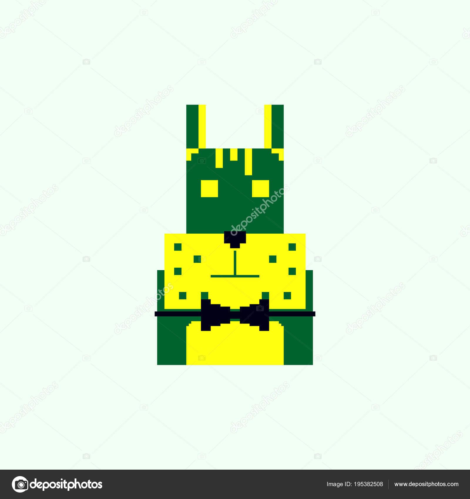 Chien Mignon Dans Style Simple Pixel Art Image Vectorielle