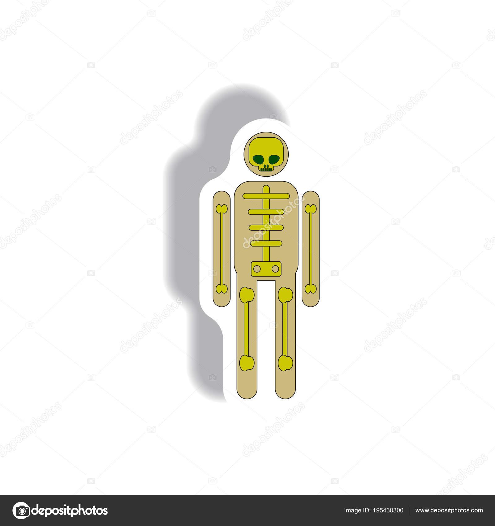 Ilustración Vector Etiqueta Engomada Icono Diseño Plano Halloween ...