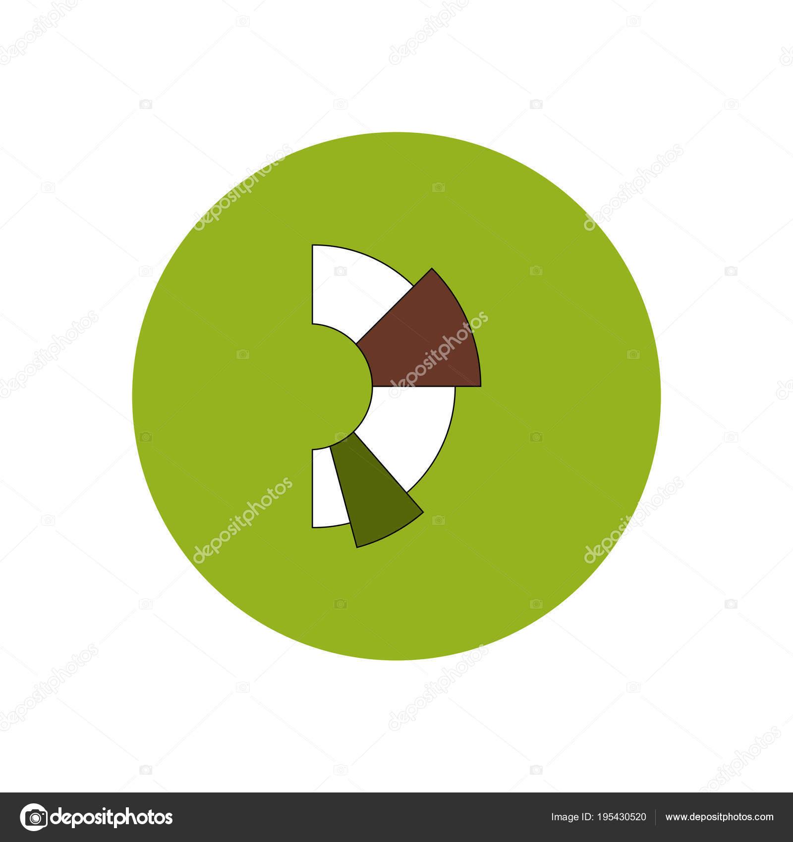 Business Half Pie Chart Stock Vector Pashutanast9 195430520
