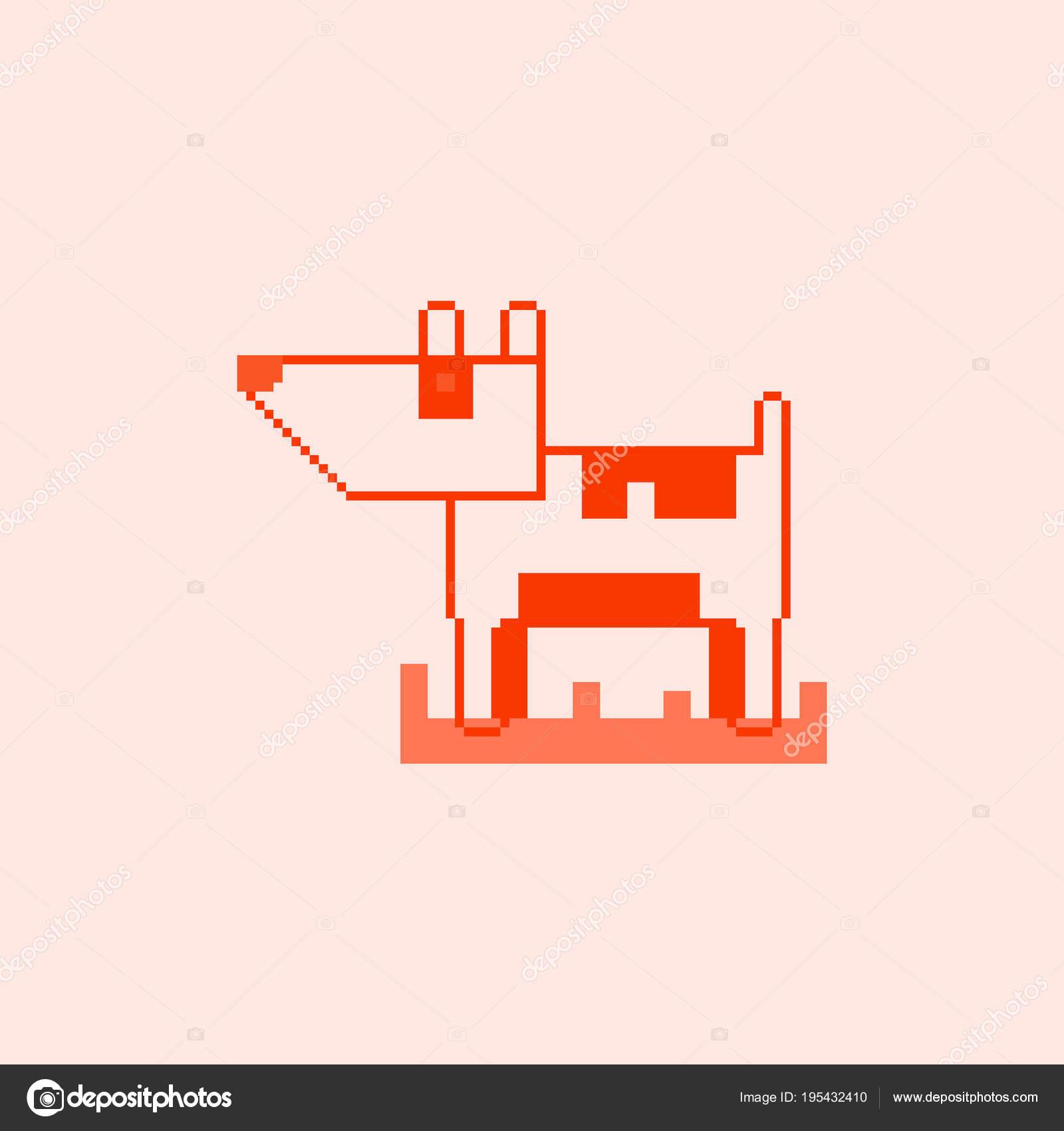 Illustration Vectorielle Pixel Art Chien Image Vectorielle