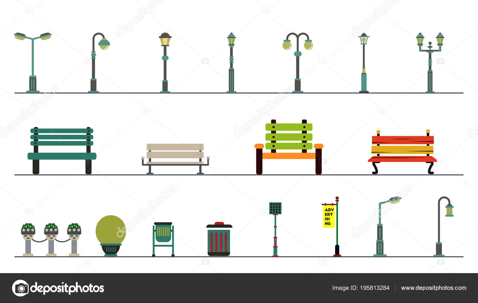 Light posts outdoor elements construction landscapes stock vector light posts outdoor elements construction landscapes stock vector mozeypictures Images