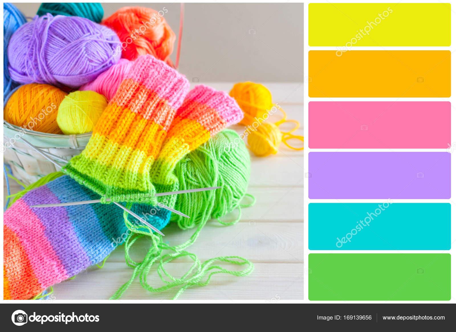 palette de couleurs vives. choix de couleurs — photographie dali_vl