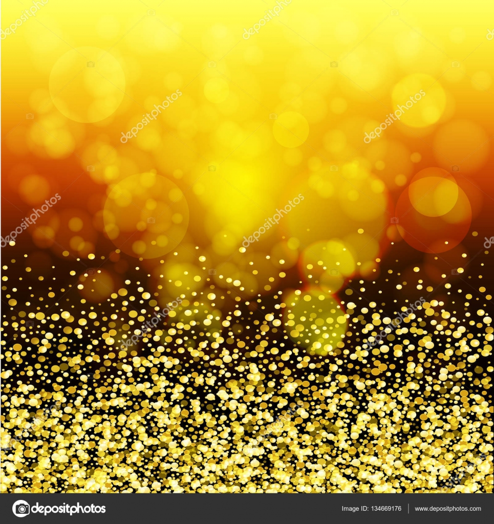 Abstract Golden Glow. Christmas Background With Gold Magic Star U2014 Stock  Vector