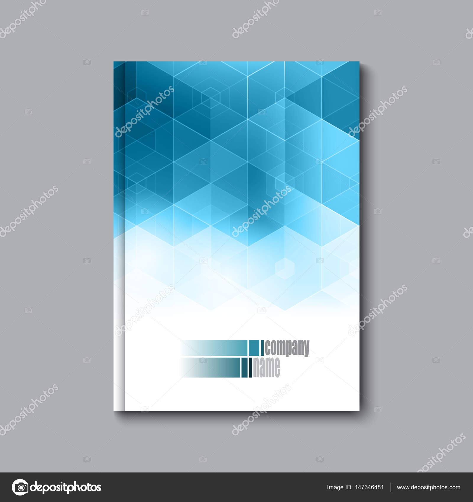 Business-Design-Vorlage. Broschüre Buch Flyer Magazin-Layout Mock-up ...