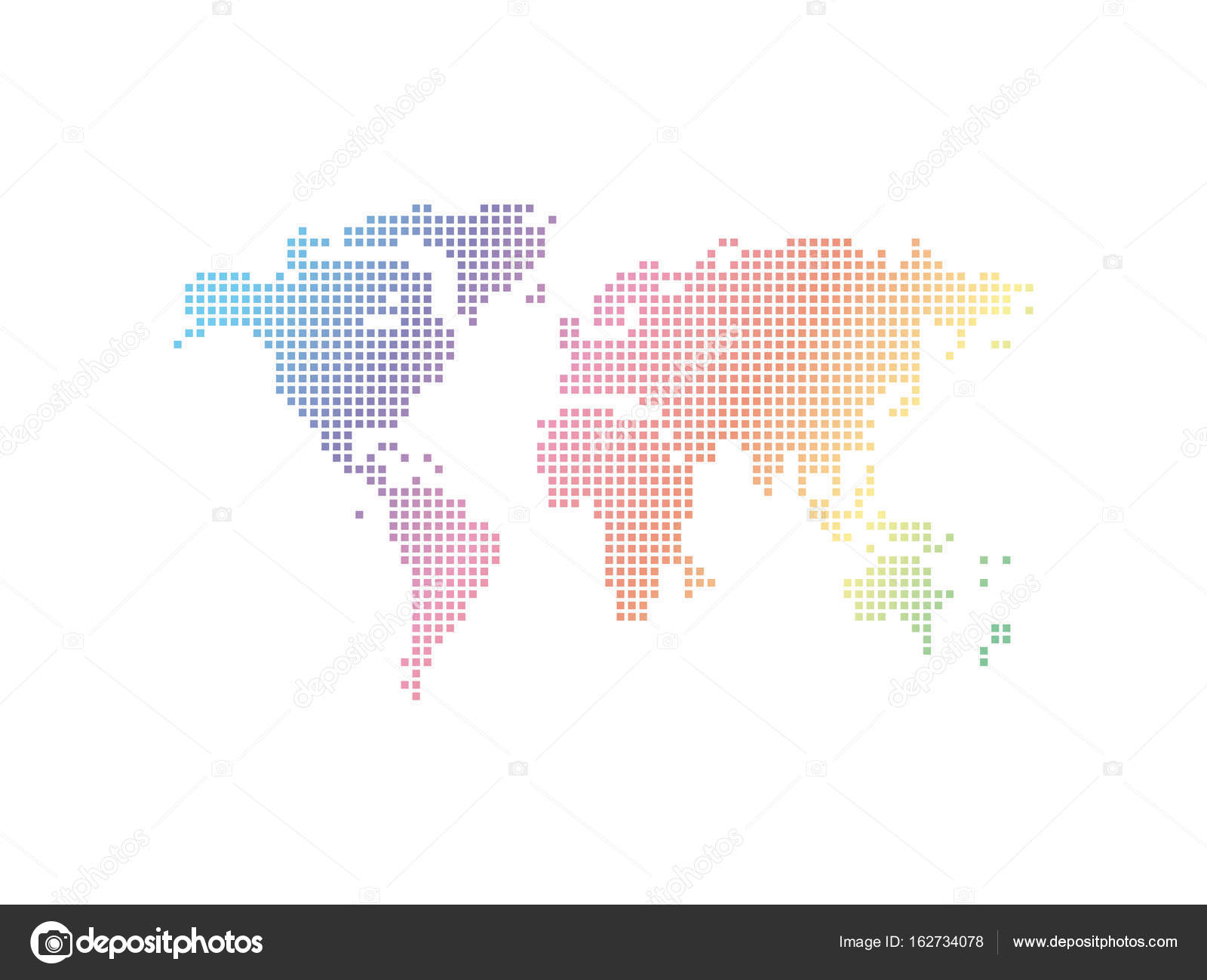 Vector abstract world map stock vector lesikvit78ail abstract world map background consisting of colored squares vector by lesikvit78ail gumiabroncs Image collections