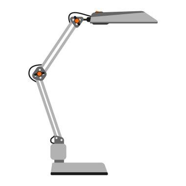 Cartoon lamp vector illustration.