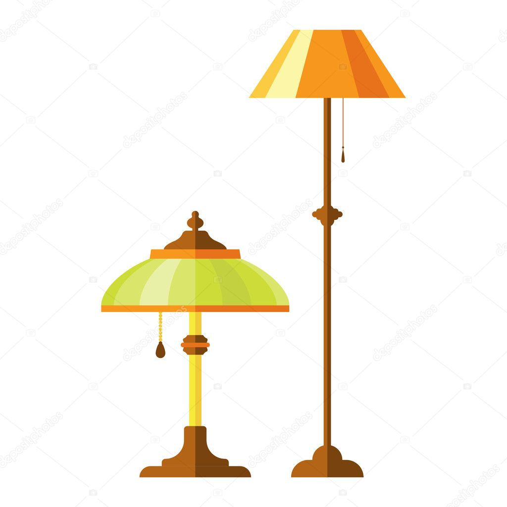 cartoon lamp vector illustration stock vector vectorshow 125496744 rh depositphotos com lamp vector free lamb vector image