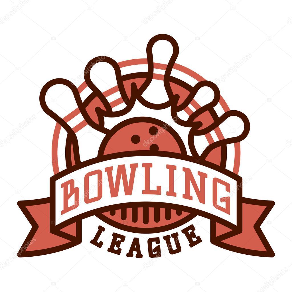 vector bowling logo emblems stock vector vectorshow 125541818 rh depositphotos com bowling logos pictures bowling logo image
