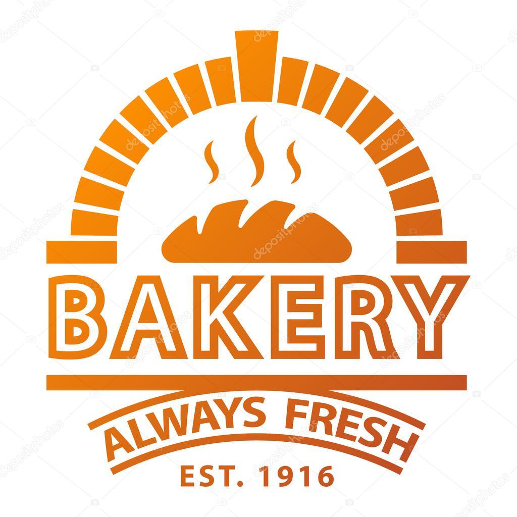 Insignia y logotipo el icono de panadería — Vector de ...