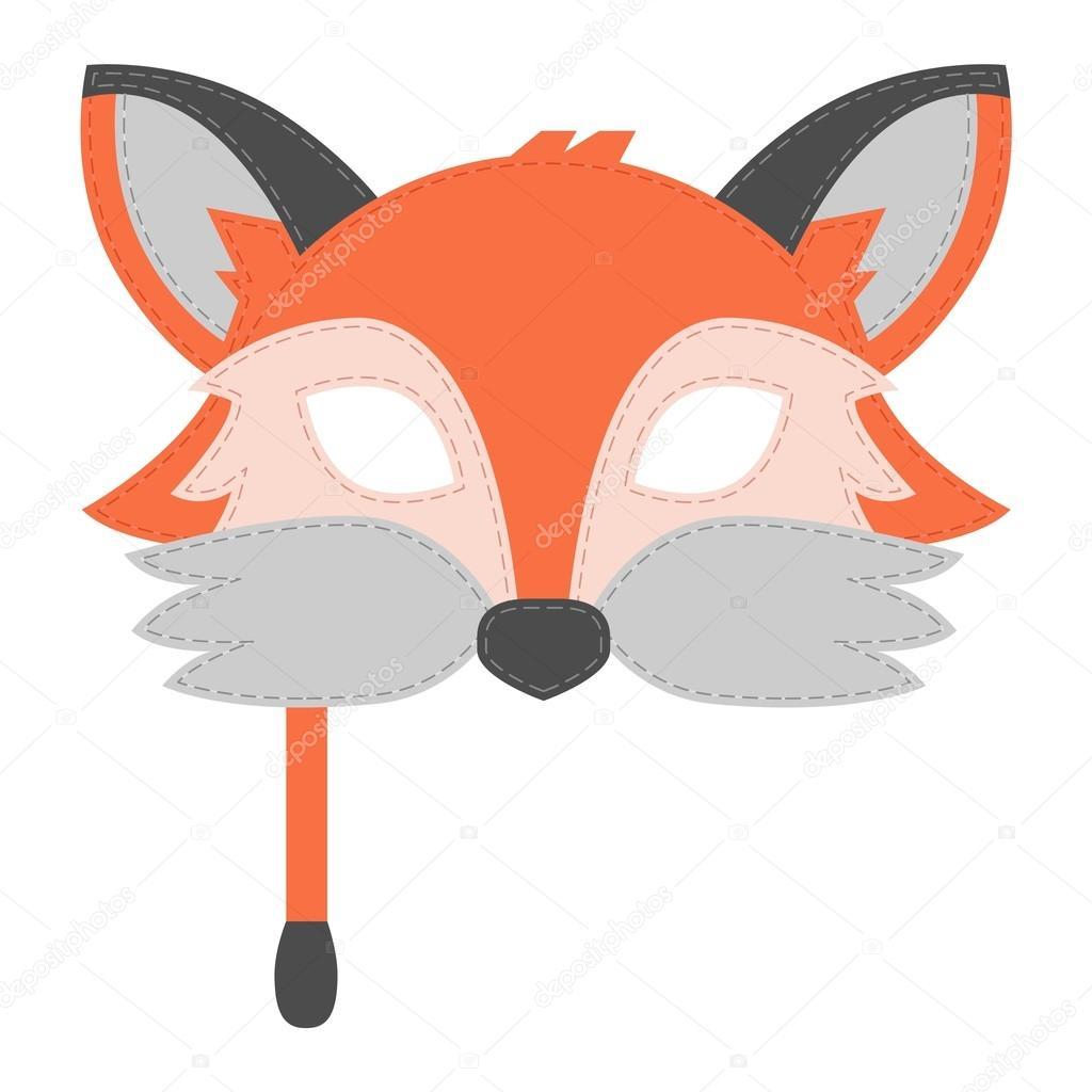 Cartone animato animale festa maschera vettoriale u2014 vettoriali stock