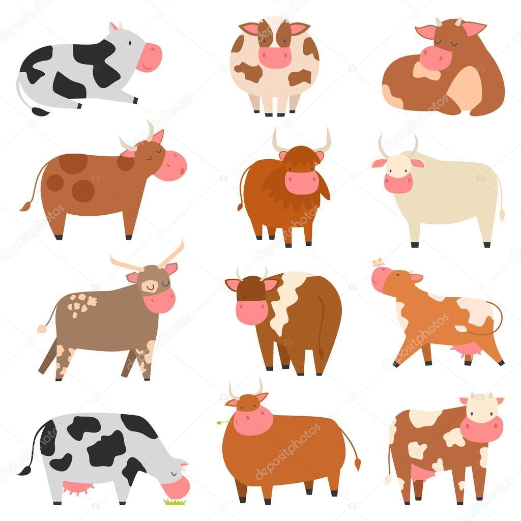 Personajes De Dibujos Animados La Vaca Archivo Imágenes