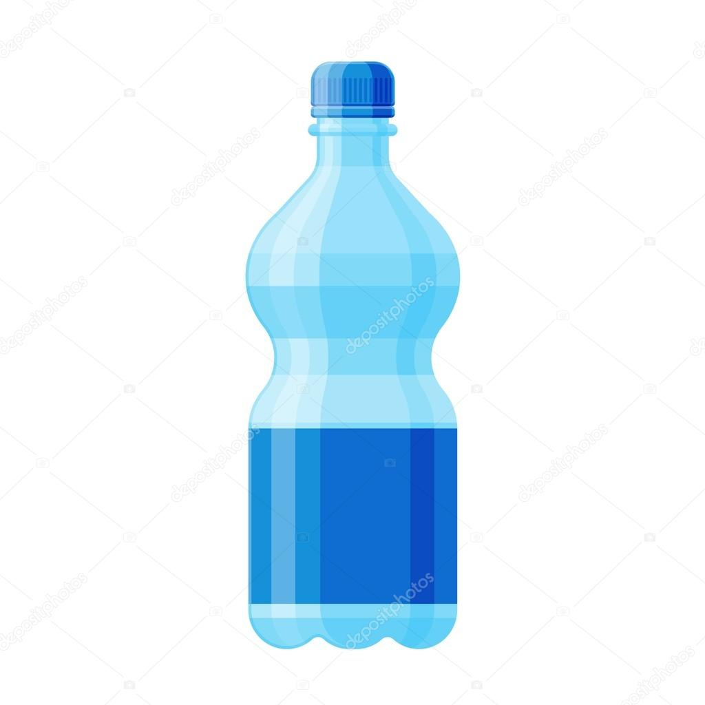Bottle of Water stock vector. Illustration of alcoholic