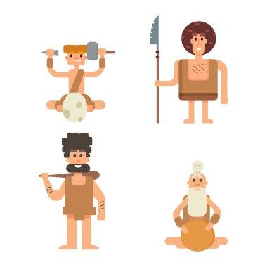 Caveman primitive stone age people
