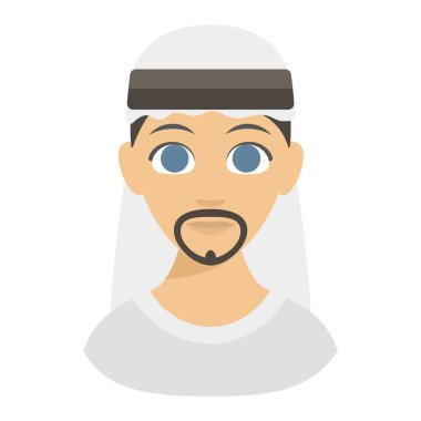 Arabic man face vector